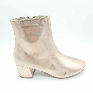 Yoki Womens Mercy Ankle Boots Metallic 7.5 New